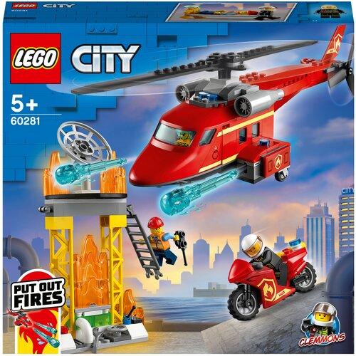 Купить Конструктор LEGO City 60281 Спасательный пожарный вертолёт, Конструкторы