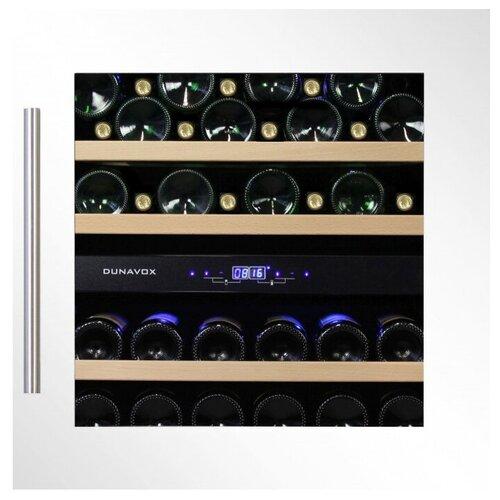 Фото - Встраиваемый винный шкаф Dunavox DAB-36.80DW винный шкаф 81 л на 32 бутылки монотемпературный серый dau 32 81ss dunavox
