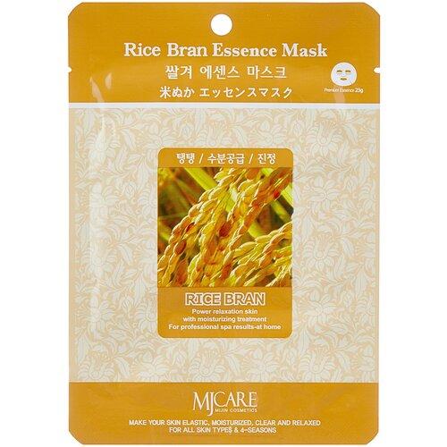 MIJIN Cosmetics тканевая маска Rice Bran Essence с рисовыми отрубями, 23 г jigott гель premium facial rice bran peeling gel мягкий с рисовыми отрубями 180 мл