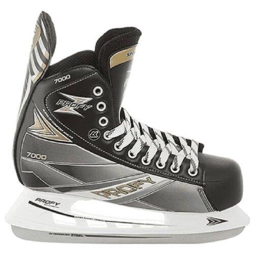 Хоккейные коньки PROFY Z 7000 черные, 36 размер