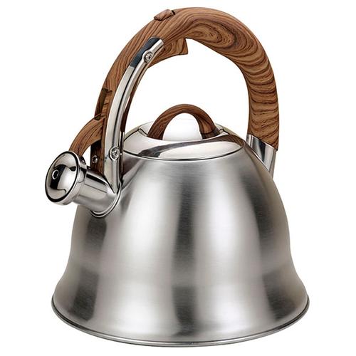 Чайник металлический 3л. со свистком. чайник металлический bk s637 3л