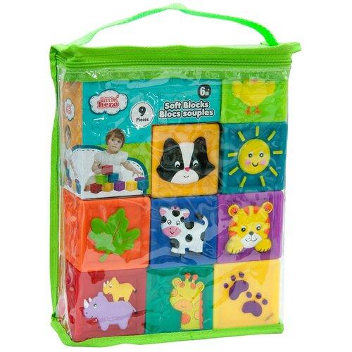 Купить Развивающая игрушка для малышей Мягкие кубики, Little hero, Детские кубики