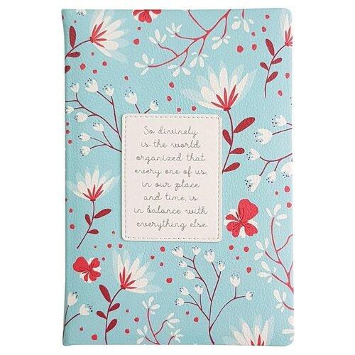 Купить Ежедневник InFolio Romantic недатированный, искусственная кожа, А5, 160 листов, голубой, Ежедневники