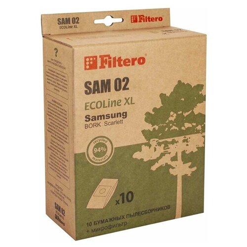 Filtero Мешки-пылесборники и микрофильтр SAM 02 ECOLine XL бежевый 11 шт. недорого