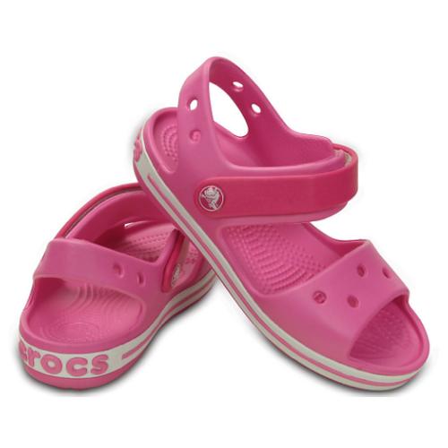 Сандалии Crocs Crocband Sandal размер 34-35(J3), Candy Pink/Party Pink шлепанцы crocs crocband flip размер 36 37 m4 w6 navy