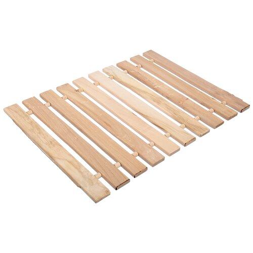 Коврик-сидушка Банные штучки, липовая рейка, 46 x 35 см x 1 см