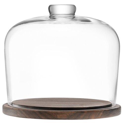 блюдо сервировочное со стеклянным куполом 35 5 см paddle Блюдо со стеклянным куполом City D22 см LSA G1240-22-301