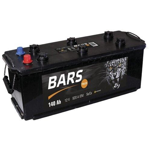 Аккумулятор для грузовиков BARS Truck 6СТ140 (справа+)