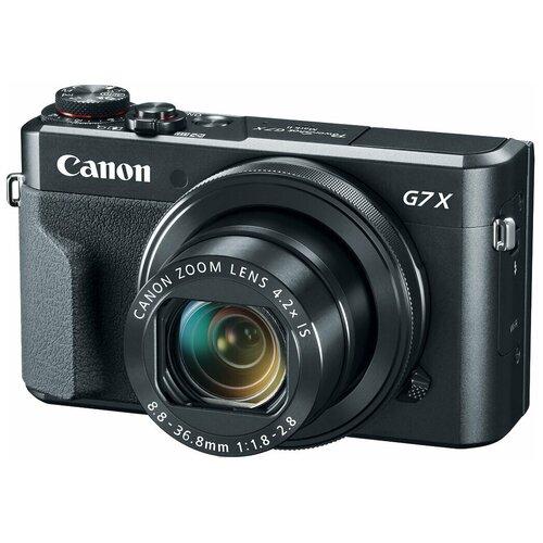Фото - Фотоаппарат Canon PowerShot G7X Mark II черный фотоаппарат canon powershot sx740 hs серебристый коричневый