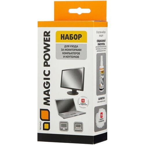 Фото - Набор MAGIC POWER MP-836 чистящая жидкость+сухие салфетки 15 шт. для экрана чистящая жидкость спрей brauberg 513288