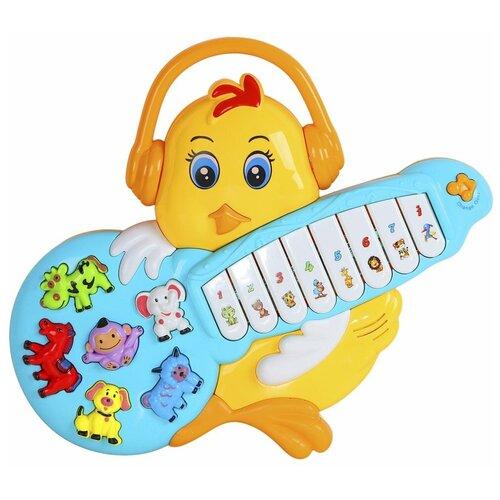 Фото - Интерактивная развивающая игрушка Smart Baby Цыплёнок JB0333397, желтый развивающая игрушка smart baby смартфончик jb0205580 желтый