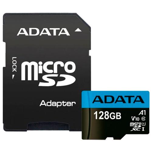 Фото - Карта памяти ADATA Premier microSDXC UHS-I U1 V10 A1 Class10 128GB + SD adapter карта памяти kingston high endurance microsdxc 128gb class10 sdce 128gb