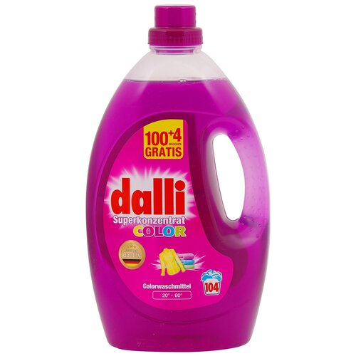 Фото - Гель для стирки Dalli Color Superkonzentrat для цветного белья, 104 стирки, 3.65 л, бутылка гель для стирки dalli sport