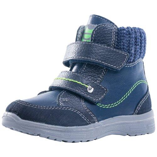 Фото - Ботинки КОТОФЕЙ размер 21, 35 синий/салатовый ботинки для мальчика котофей цвет синий салатовый 554047 41 размер 30
