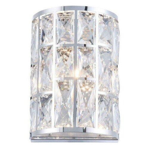Настенный светильник MAYTONI Gelid MOD184-WL-01-CH, G9, 40 Вт, кол-во ламп: 1 шт., цвет арматуры: хромовый, цвет плафона: бесцветный настенный светильник maytoni gelid mod184 wl 01 ch