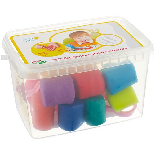 Купить Масса для лепки Genio Kids 12 цветов (TA1068), Пластилин и масса для лепки