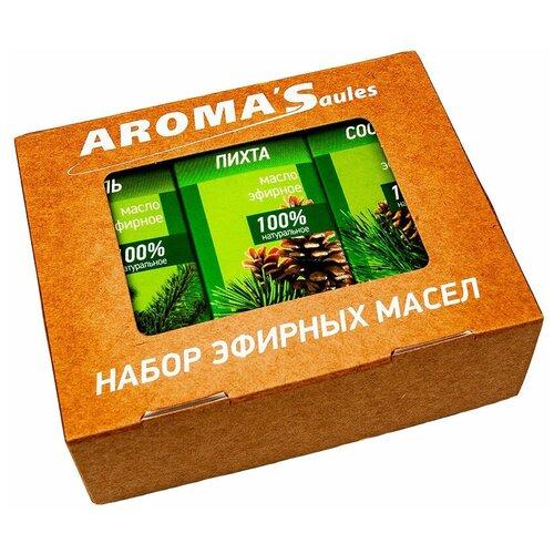 AROMA'Saules набор эфирных масел Хвойный, 30 млх 3 шт.