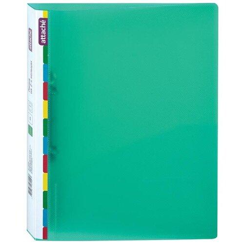 Купить Attache Папка Diagonal на 2-х кольцах, А4, пластик, 500 мкм, 35 мм зеленая, Файлы и папки