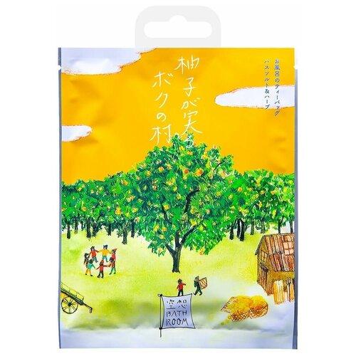 Фото - Charley Соль для ванн Деревня, где растет юдзу с ароматом цитрусовых, 30 г добропаровъ соль для ванн с маслом ели 3005701 300 г