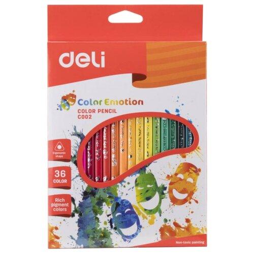 Купить Deli Карандаши цветные Color Emotion 36 цветов (EC00230), Цветные карандаши