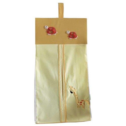 Купить Kidboo Прикроватная сумка My Animals горчичный, Органайзеры и карманы в кроватку