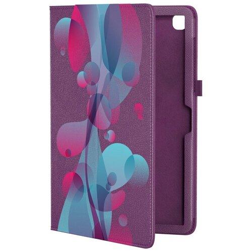 Кожаный чехол подставка для Samsung Galaxy Tab A7 10.4 SM-T500 GSMIN Series CL (Фиолетовый) (Дизайн 317)