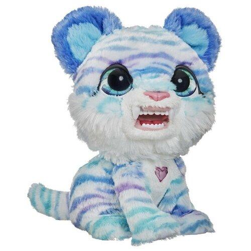 Интерактивная мягкая игрушка FurReal Friends саблезубый тигренок North E9587 белый/голубой