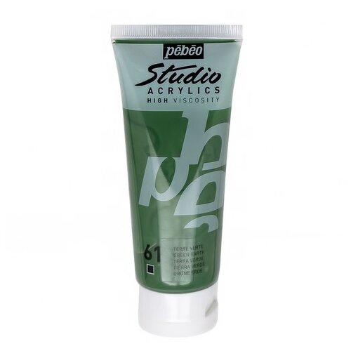 Купить Краска акриловая Pebeo Studio Acrylics (Зеленая земля), 100 мл, Краски