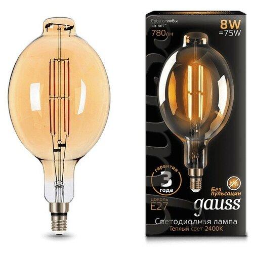 Лампа светодиодная gauss 151802008, E27, 8Вт лампа светодиодная gauss 102802108 e27 a60 8вт