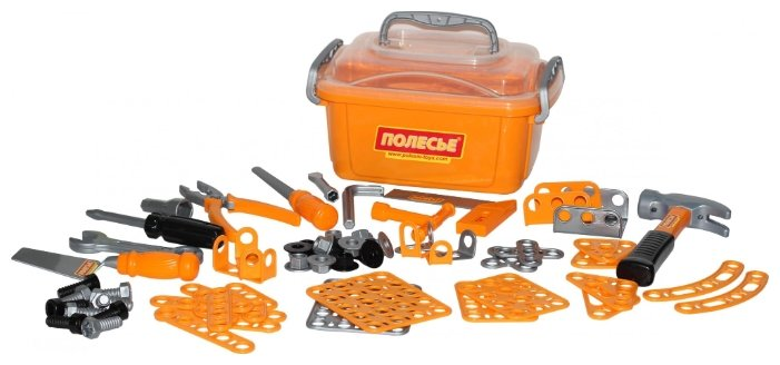 Полесье Набор инструментов №10, 166 элементов (в контейнере) (53503)