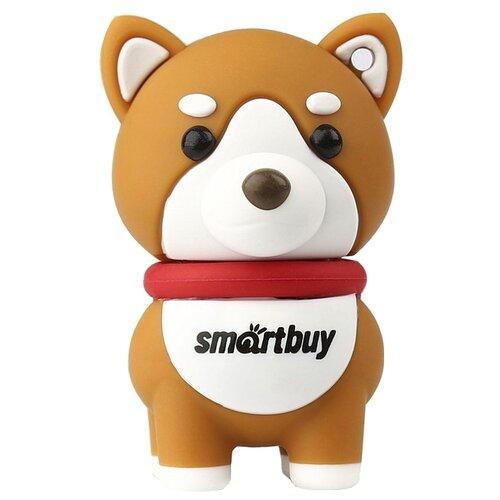 Фото - Флешка SmartBuy Wild Series Akita Dog 16 GB, оранжевый ufd smartbuy 16gb wild series бык sb16gbbullw