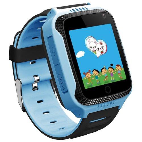 Детские умные часы c GPS Smart Baby Watch Q65 / T7 голубой детские умные часы c gps smart baby watch kt03 голубой синий