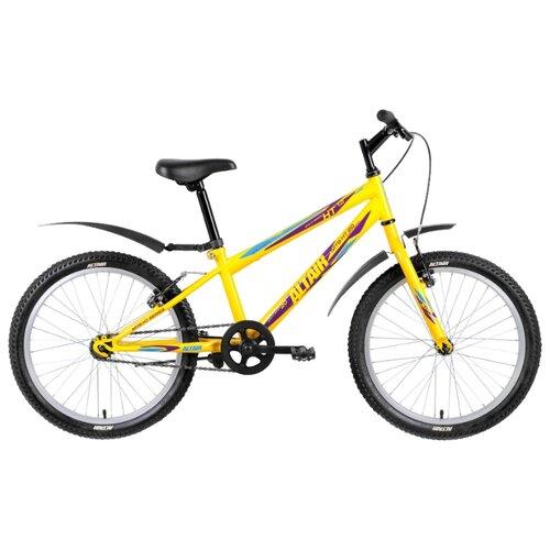 Подростковый горный (MTB) велосипед ALTAIR MTB HT 20 1.0 (2018) желтый 10.5 (требует финальной сборки)Велосипеды<br>