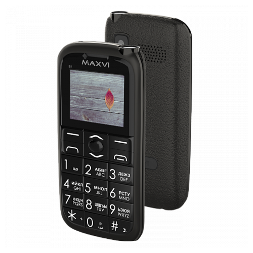 Телефон MAXVI B7 черный телефон