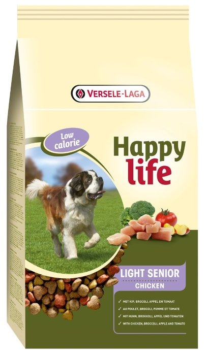 Корм для собак Happy life Light Senior with Chicken