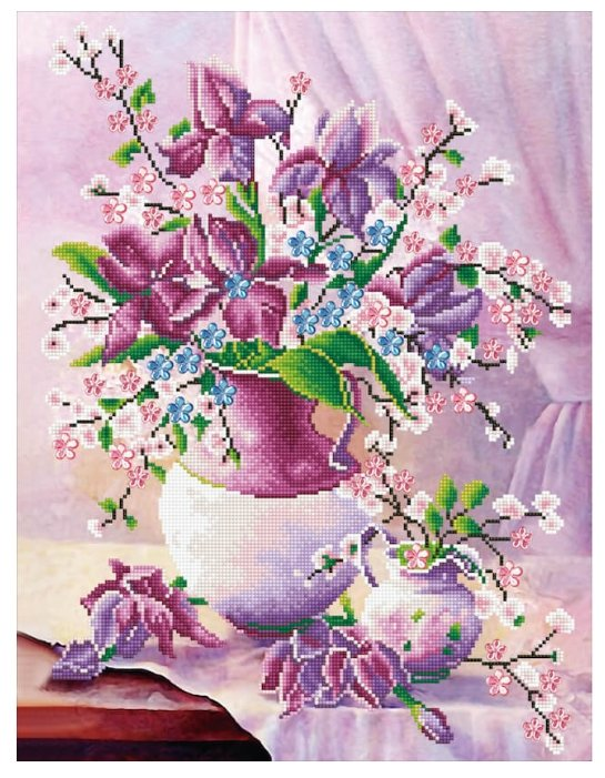 Цветной Набор алмазной вышивки Цветочное утро (LMC005) 50x65 см
