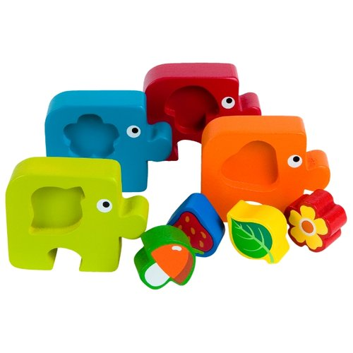 Рамка-вкладыш Step puzzle Подбираем фигуры. Растения (89027), 8 дет.