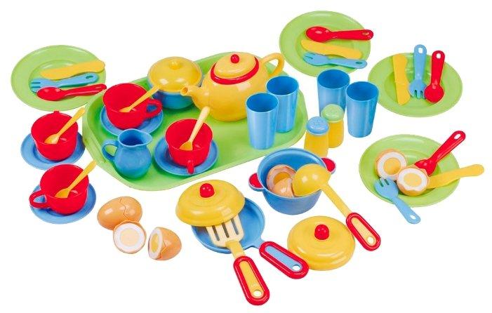 Набор продуктов с посудой PlayGo с подносом 3126