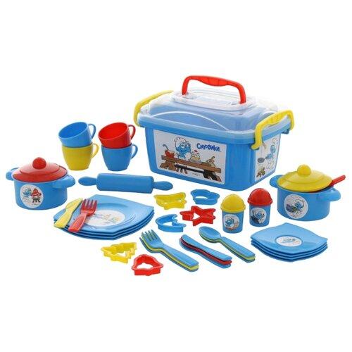 Набор посуды Полесье Смурфик - сластёна 56948 голубой/красный/желтый