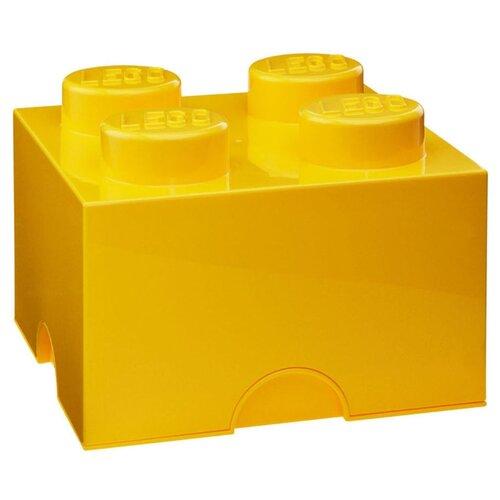 Контейнер LEGO 2х2 Knobs 25х25х18 см (4003) желтый