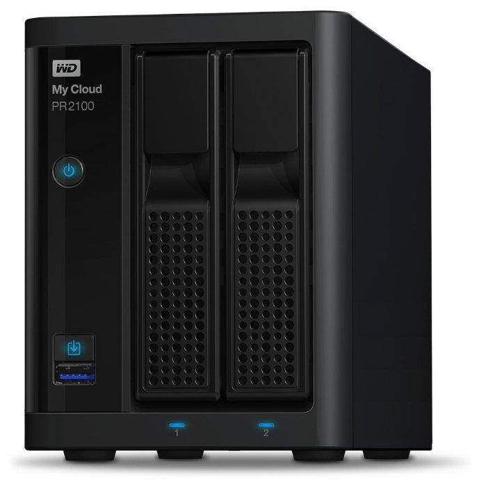 Сетевой накопитель Western Digital My Cloud Pro PR2100 0TB Black черный WDBVND0000NBK-EEUE