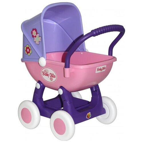 Купить Коляска-люлька Полесье Arina (48202) фиолетовый/розовый, Коляски для кукол