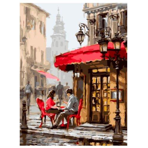 """Цветной Картина по номерам """"Влюбленные в кафе"""" 30х40 см (EX5739)"""
