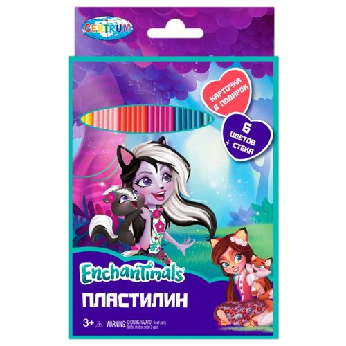 Пластилин CENTRUM Enchantimals 6 цветов (88615) centrum пластилин centrum disney тролли 12 цветов