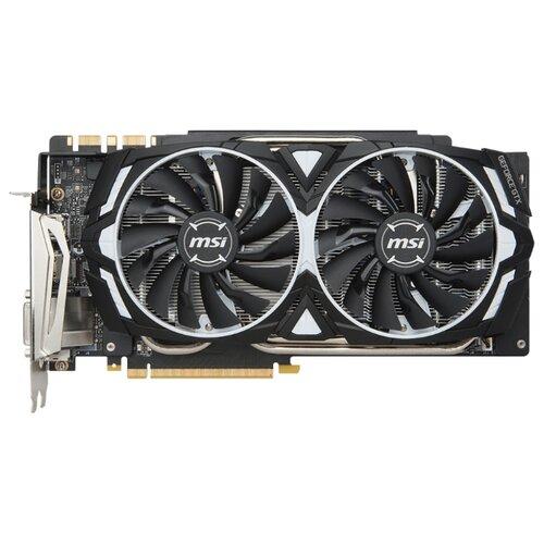 Купить Видеокарта MSI GeForce GTX 1080 Ti 1531MHz PCI-E 3.0 11264MB 11016MHz 352 bit DVI 2xHDMI HDCP Armor OC Retail