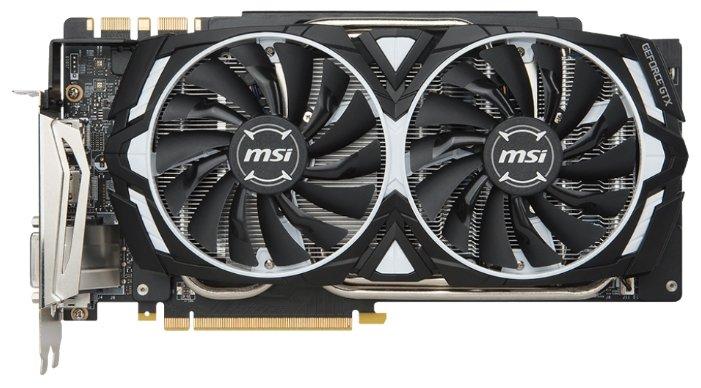 MSI GeForce GTX 1080 Ti 1531Mhz PCI-E 3.0 11264Mb 11016Mhz 352 bit DVI 2xHDMI HDCP Armor OC