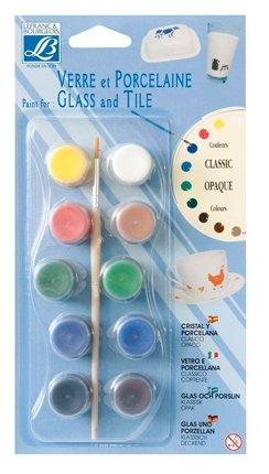 Краски LEFRANC & BOURGEOIS Glass &Tile Classic Opaque LF808053 10 цв. (4 мл.)