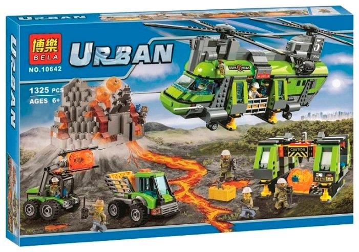 Конструктор BELA (Lari) Urban 10642 Грузовой вертолет исследователей вулканов