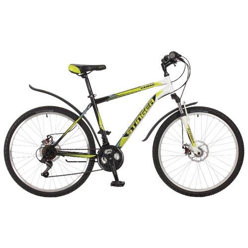 Горный (MTB) велосипед Stinger Caiman D 26 (2017) зеленый 18 (требует финальной сборки)