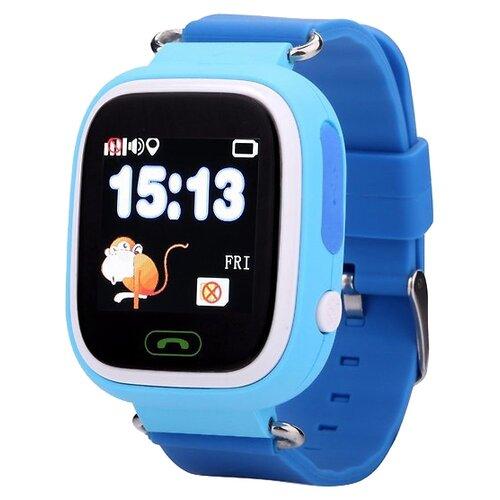 Детские умные часы c GPS Smart Baby Watch Q80 голубой детские умные часы c gps smart baby watch kt03 голубой синий